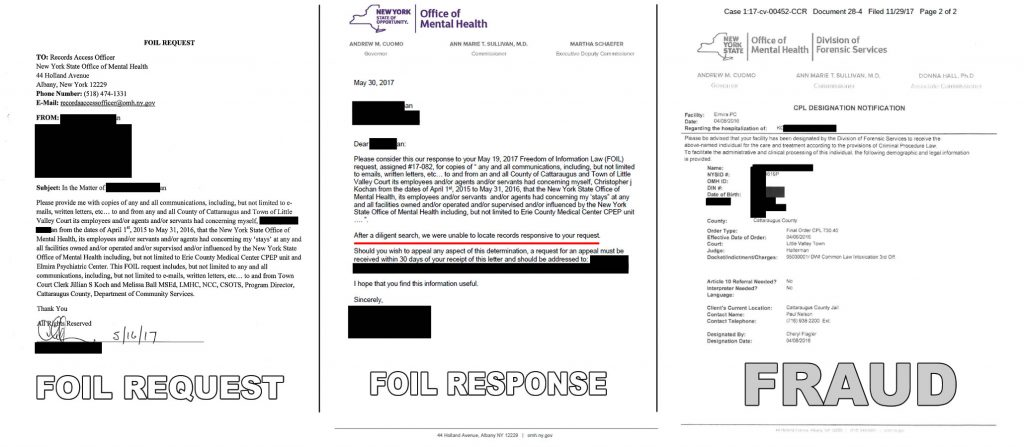 The FOIL request, the Response and the Fraud. Click to enlarge