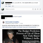 Example of Admins being banned from their own Post. This is the same thread. The top post contains an image of the original Post, in the same thread, that appeas directly below, yet the Admin cannot comment on his own post. Click to Enlarge.